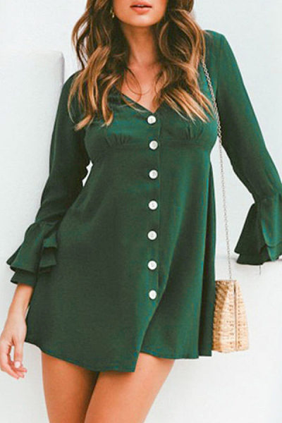 Women Plain Skater Dresses