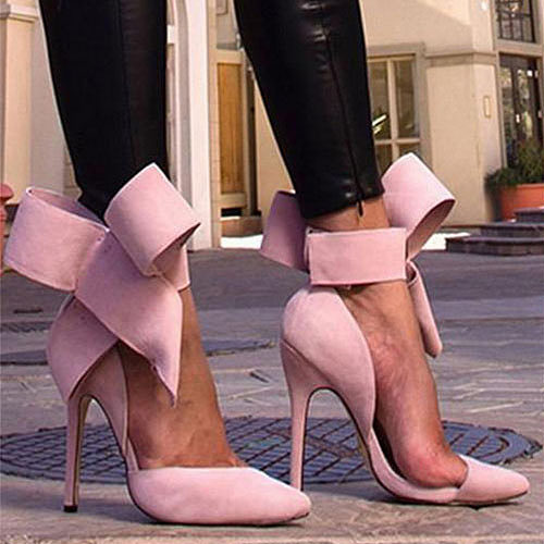 Sexy Bowknot Point-toe Stiletto Heels