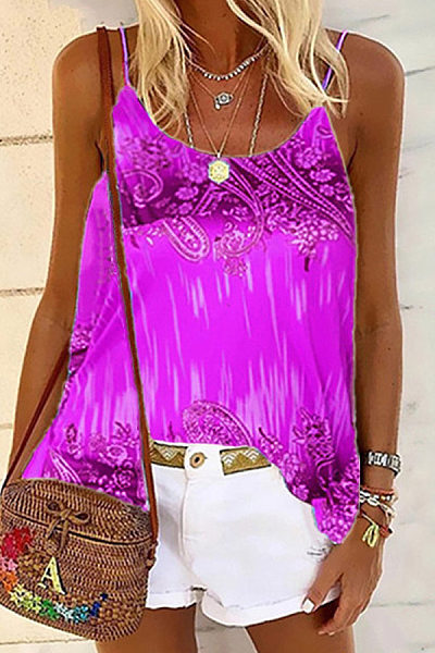 Sling Printed Loose Camisole