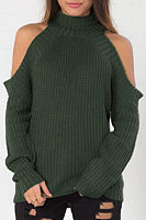 High Neck  Raglan Sleeve Sweaters