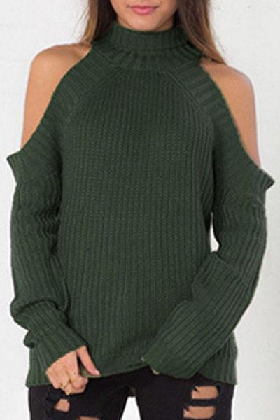 High Neck  Raglan Sleeve Sweaters