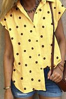 Short Sleeve Polka Dot Blouse