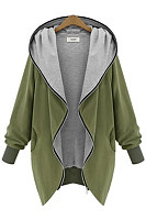 Loose Hooded Pocket Coat