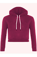 Stylish Cropped Plain Hoodie