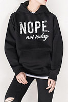 Casual Letters Long Sleeve Hoodies