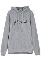 Women's Long Sleeve Printed Hoodie