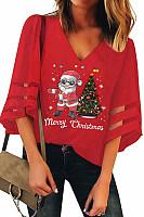 Christmas Printed Short Sleeve Casual T-Shirt