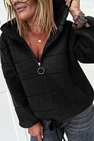 Casual Zipper Lamb Wool Short Coat