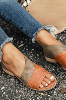 Flat Peep Toe Casual Flat Sandals
