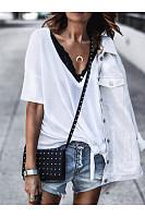 Fashion Casual V-Neck Short-Sleeved T-Shirt
