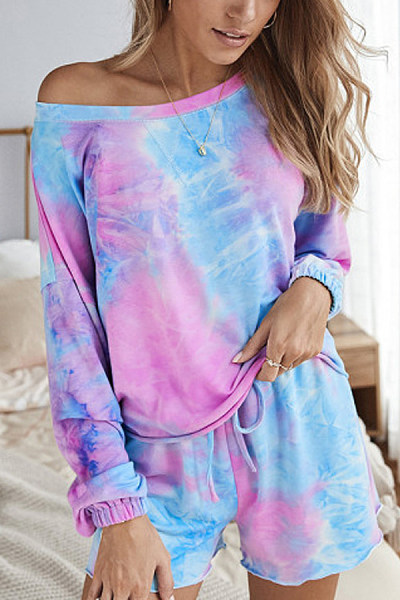 Tie-dye Loose Two-piece Outfits