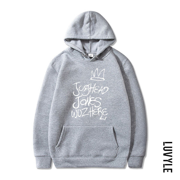 Gray Casual Long Sleeve Letters Printed Hoody Gray Casual Long Sleeve Letters Printed Hoody