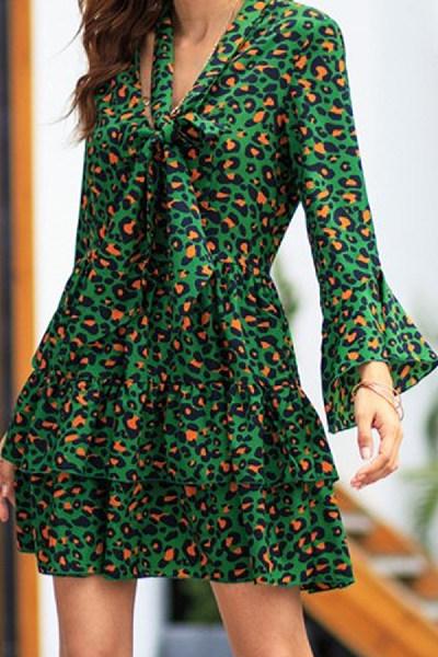 Leopard Print Print Dress