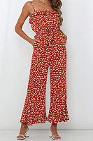 Women's Sweet Casual Printed Jumpsuit