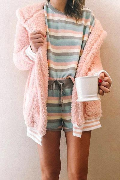 Women Casual Plain Outerwear