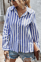 Casual Striped Long Sleeve Blouse