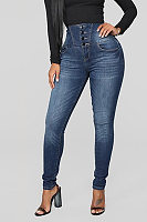 Women's Fashion Casual Slim Jeans