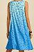 V-neck sleeveless printed tank dress