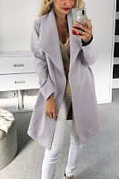 Women Casual Plain Outerwear