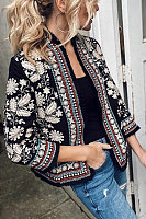 Bohemian Long Sleeve Printed Cardigan