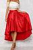 Asymmetric Hem  Plain Maxi Skirts