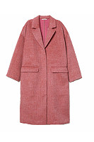 Fold Over Collar  Kangaroo Pocket Outerwear