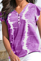 Tie-dye Printed Short Sleeve T-shirt