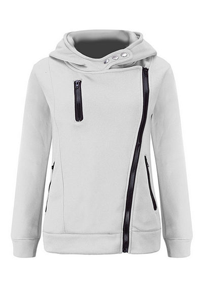 Classic Zipper  Plain Hoodies
