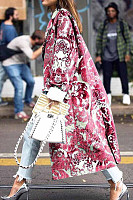 Snap Front  Abstract Print Outerwear