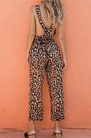 Trendy X-Back Leopard Jumpsuit