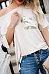 One Shoulder  Glitter  Patchwork T-Shirts