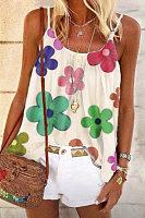 Sling Floral Casual Vest