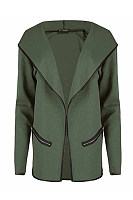 Lapel  Plain   Elegant  Jackets