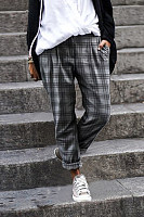 Womens Plaid Casual Pants