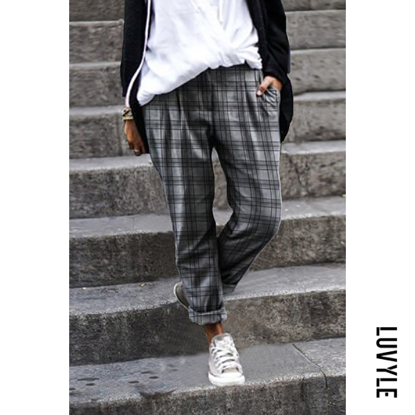 Womens Plaid Casual Pants - from $27.00