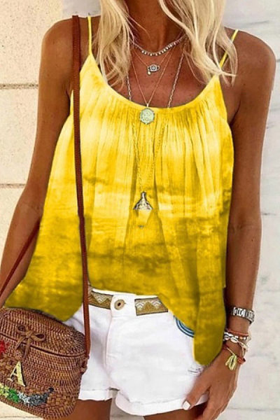 Tie-dye Printed Loose Camisole