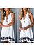 Sexy V-Neck Print Sleeveless Dress