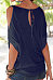 Scoop Neck  Plain Tie-Up At Back T-Shirts