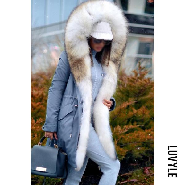 Noble Imitation Mane Fluffy Coat - from $73.00