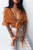 Sexy Short Sleeves Blouses