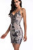 Spaghetti Strap  Shimmering Powder Bodycon Dresses
