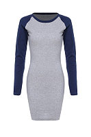 Round Neck Sheath Long Sleeve Bodycon Dress