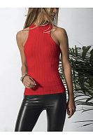 Sexy Off-Shoulder Round Neck Pure Colour T-Shirt