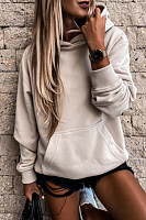 Solid Color Loose Casual Hoody
