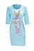 Round Neck  Animal Prints  Short Sleeve Bodycon Dresses
