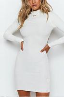 Backless Plain Bodycon Dresses