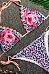 Spaghetti Strap  Floral Printed Leopard Bikini