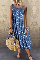 Summer Polka Dots Maxi Dress