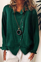 Casual Long Sleeve Irregular Shirt