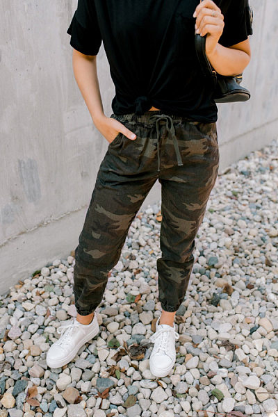 Women Casual Camouflage Pants